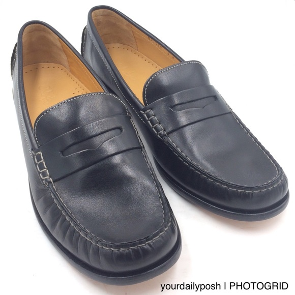 NWOT Cole Haan black leather Penny loafer flats 9B